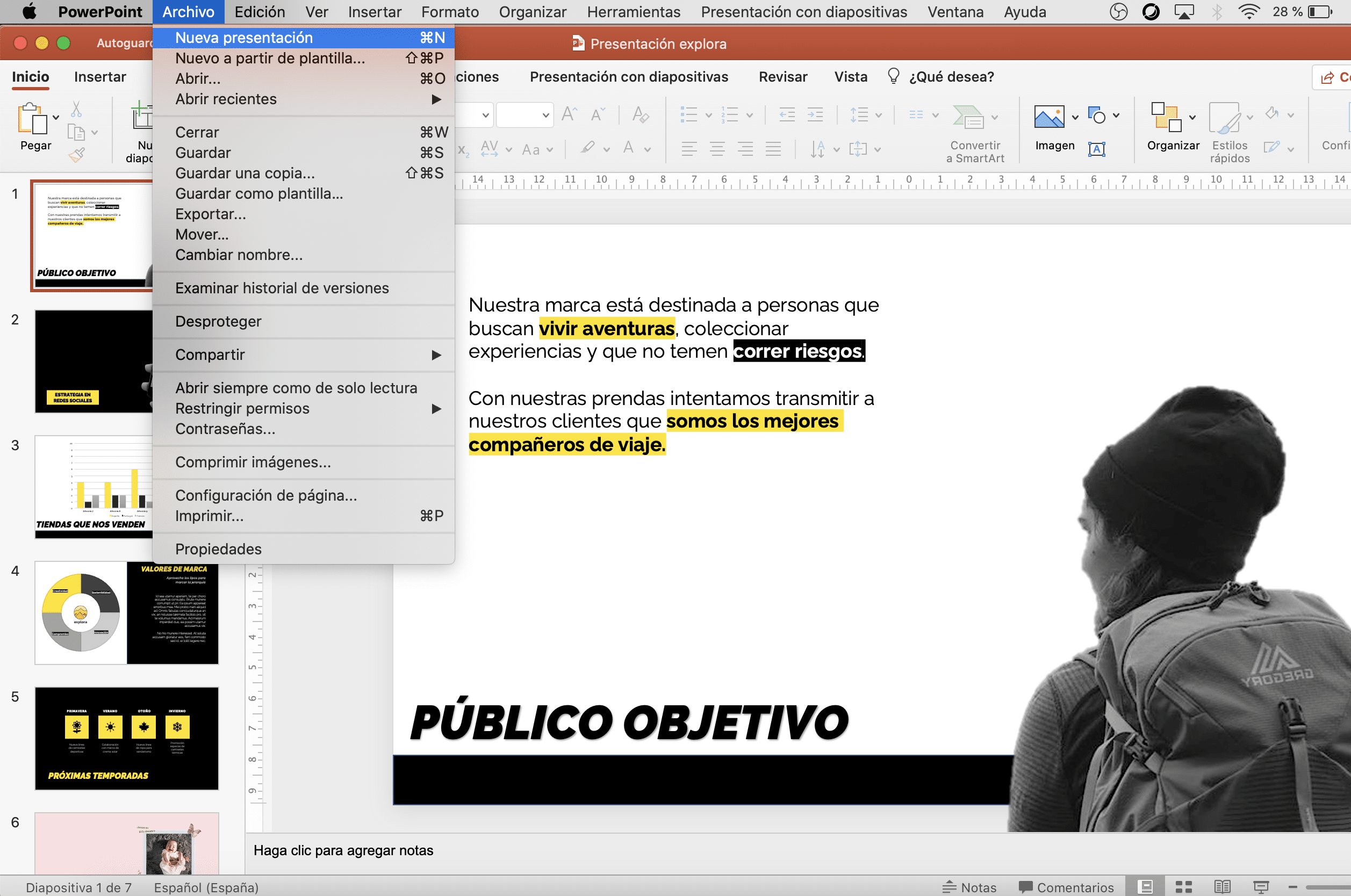 Cómo hacer presentación nueva en PowerPoint