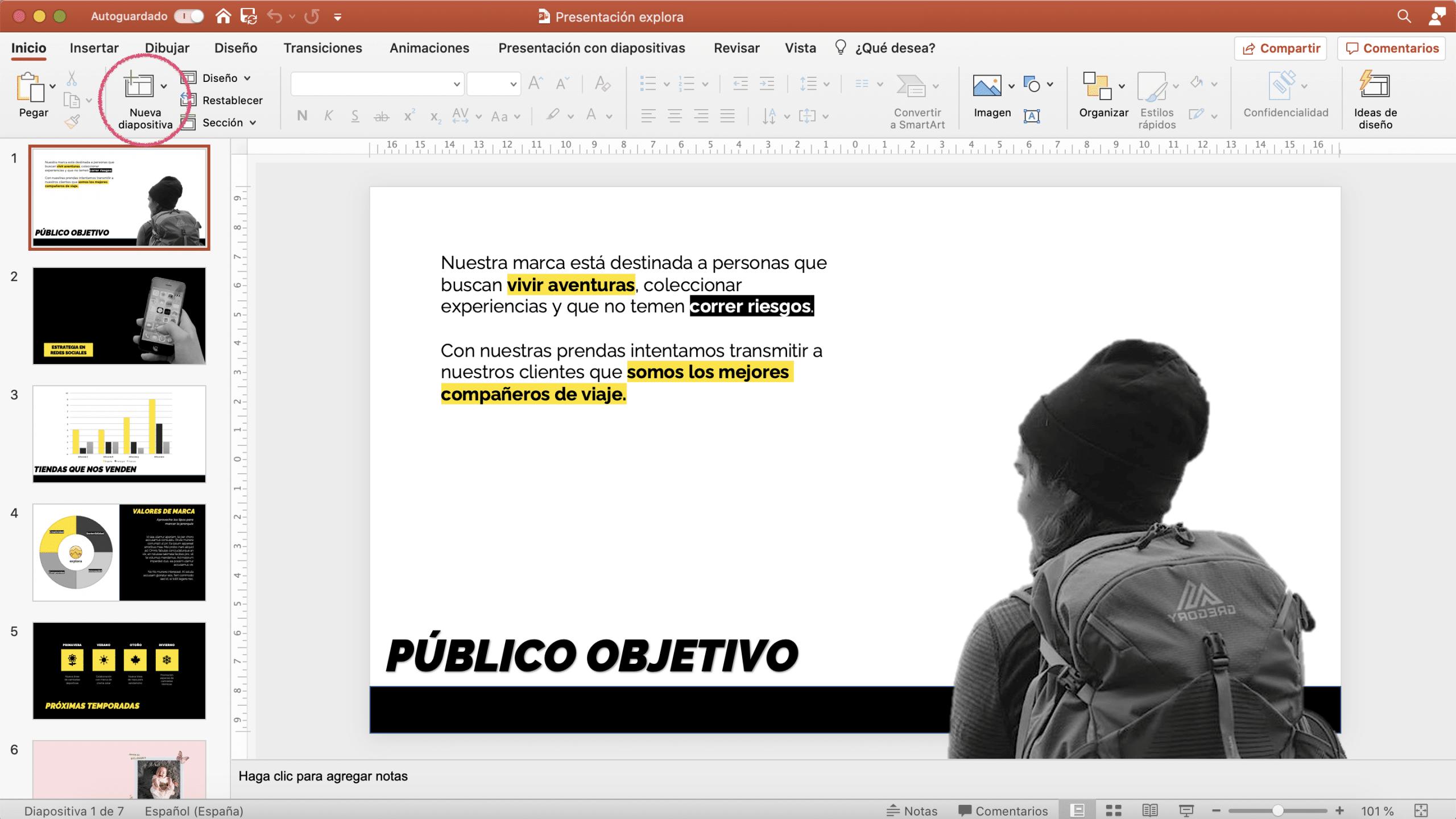 Cómo añadir nuevas diapositivas en PowerPoint