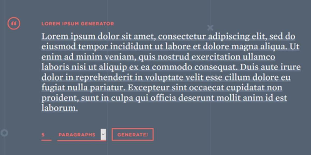 La traducción de lorem ipsum
