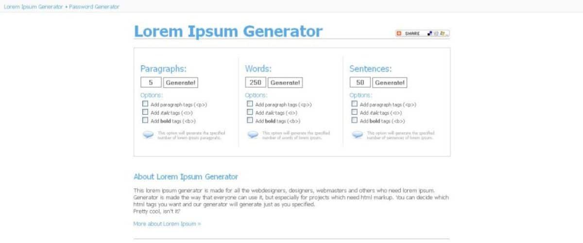 Qué es lorem ipsum generator