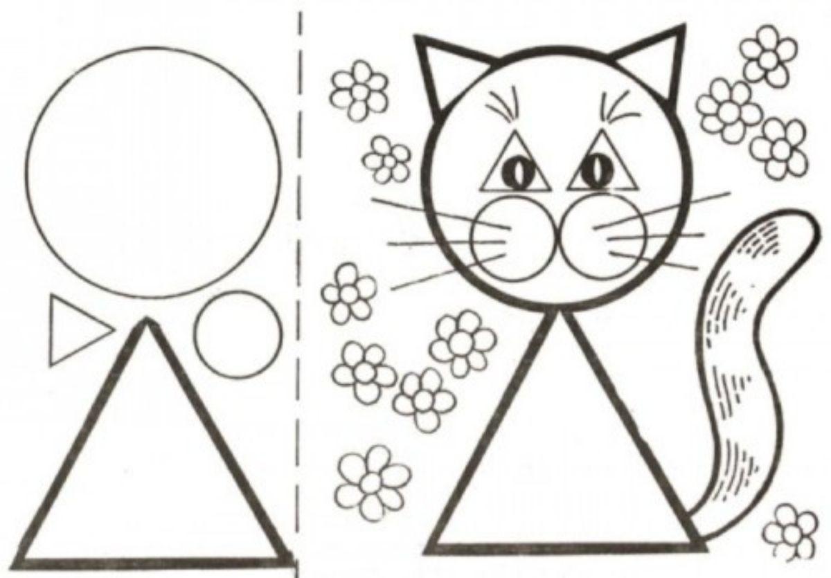 dibujar animales con formas geometricas 2