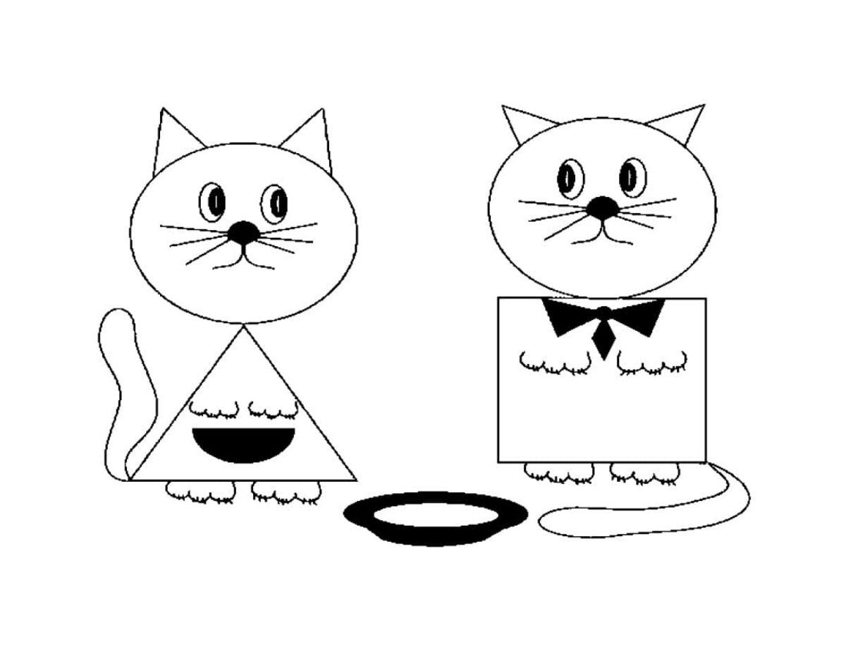 dibujar animales con formas geometricas