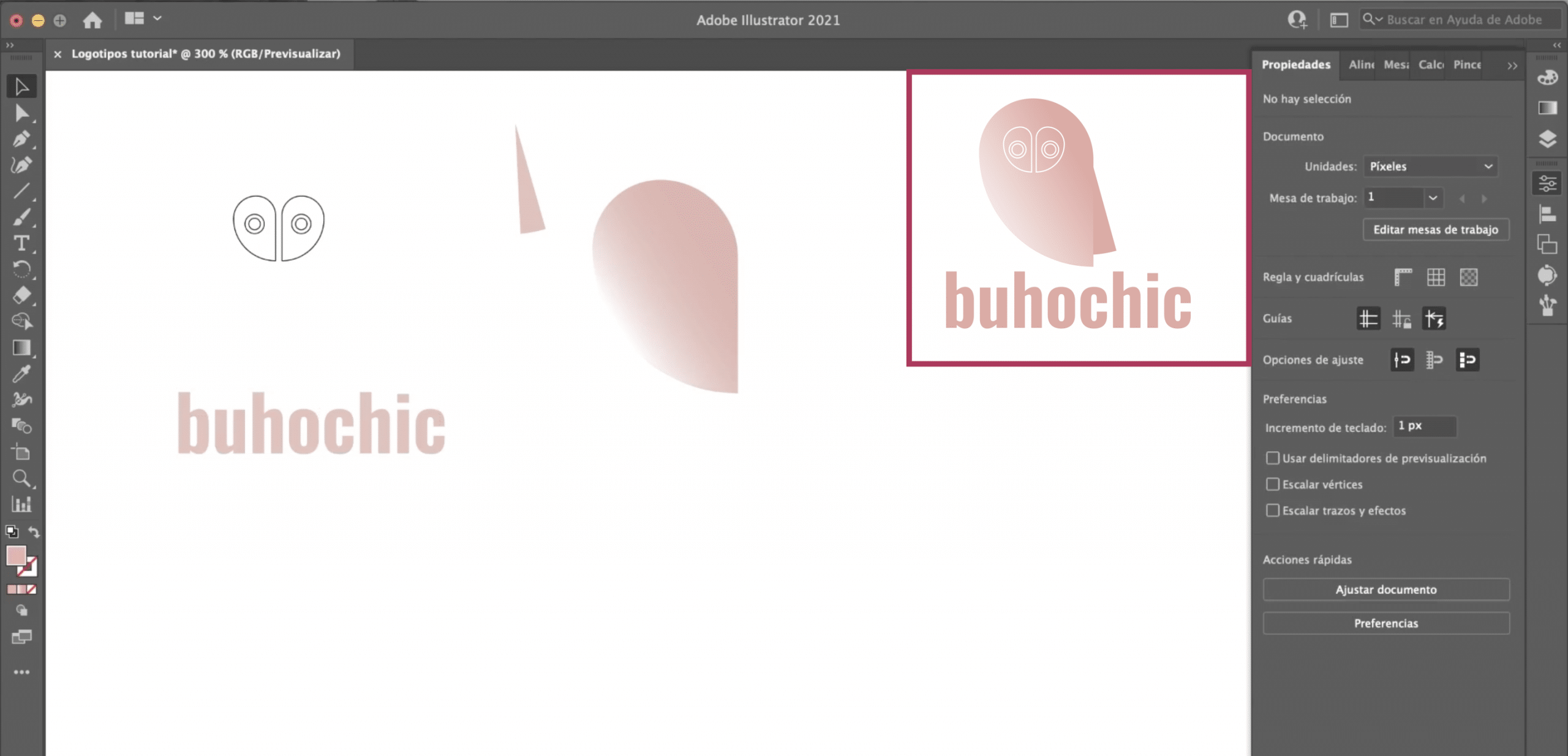 Analiza el modelo para crear logotipo en Illustrator