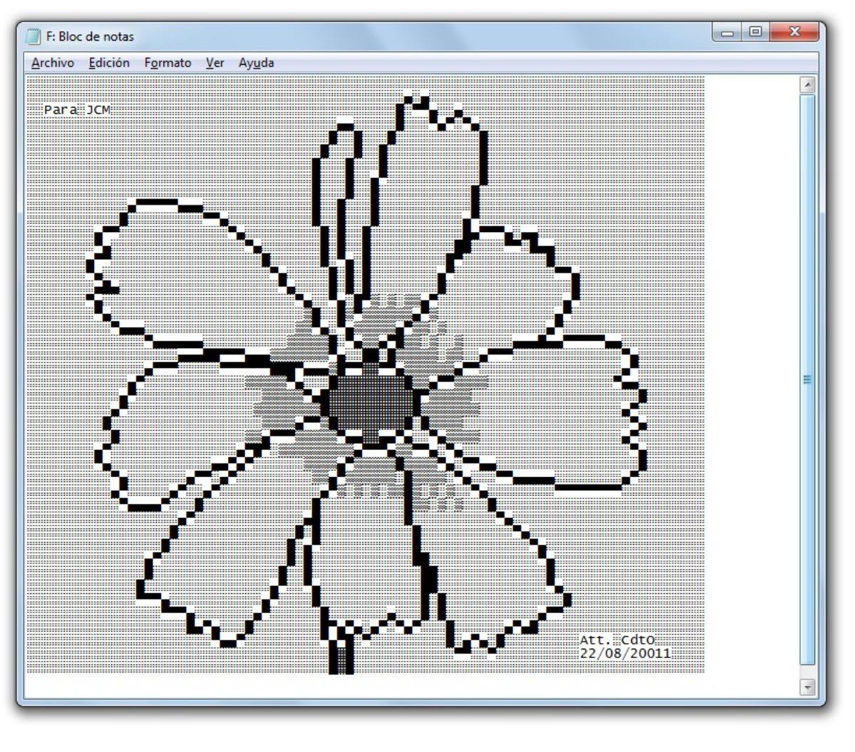 La base del arte ASCII