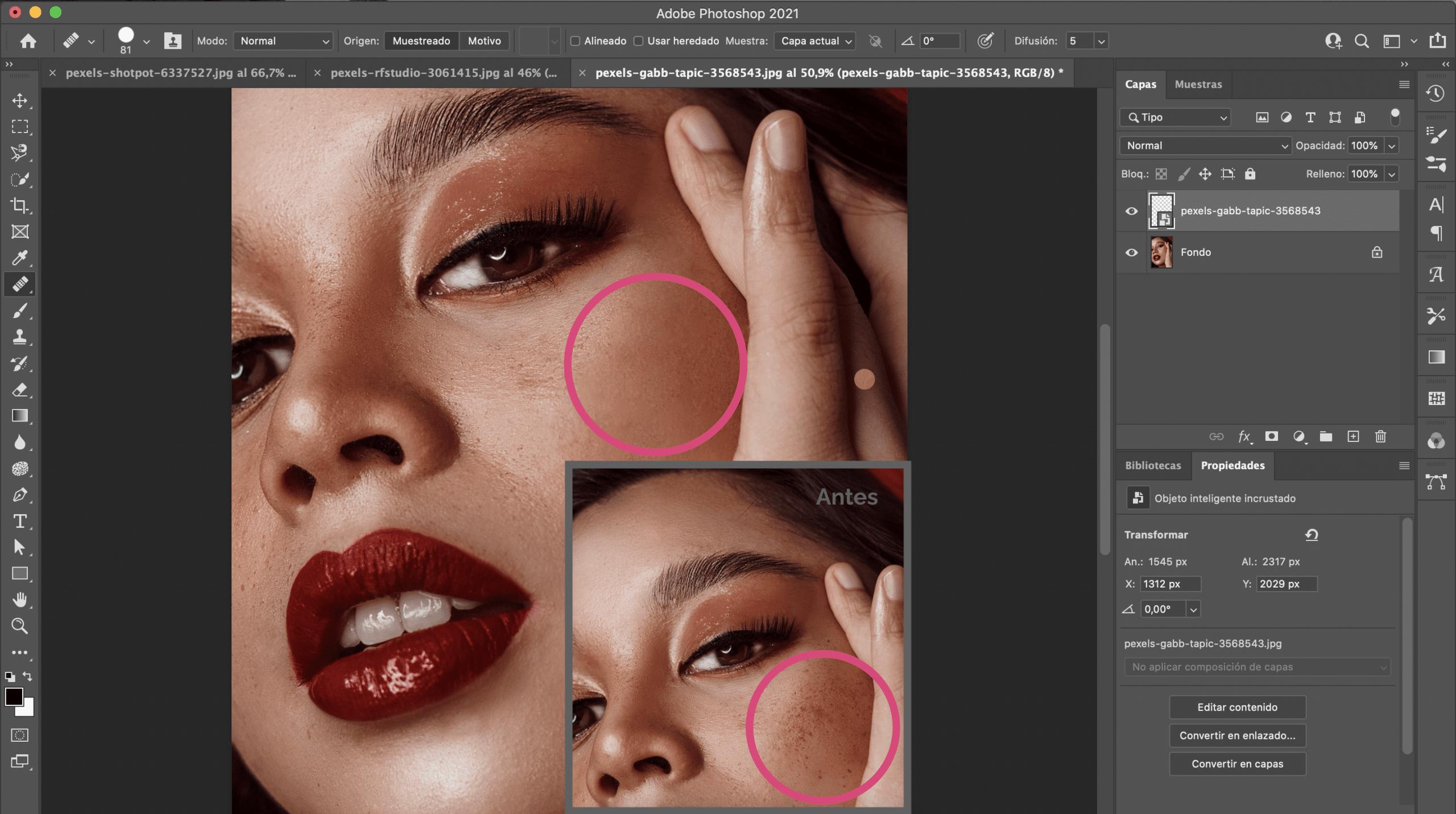 Cómo utilizar el pincel corrector en Photoshop