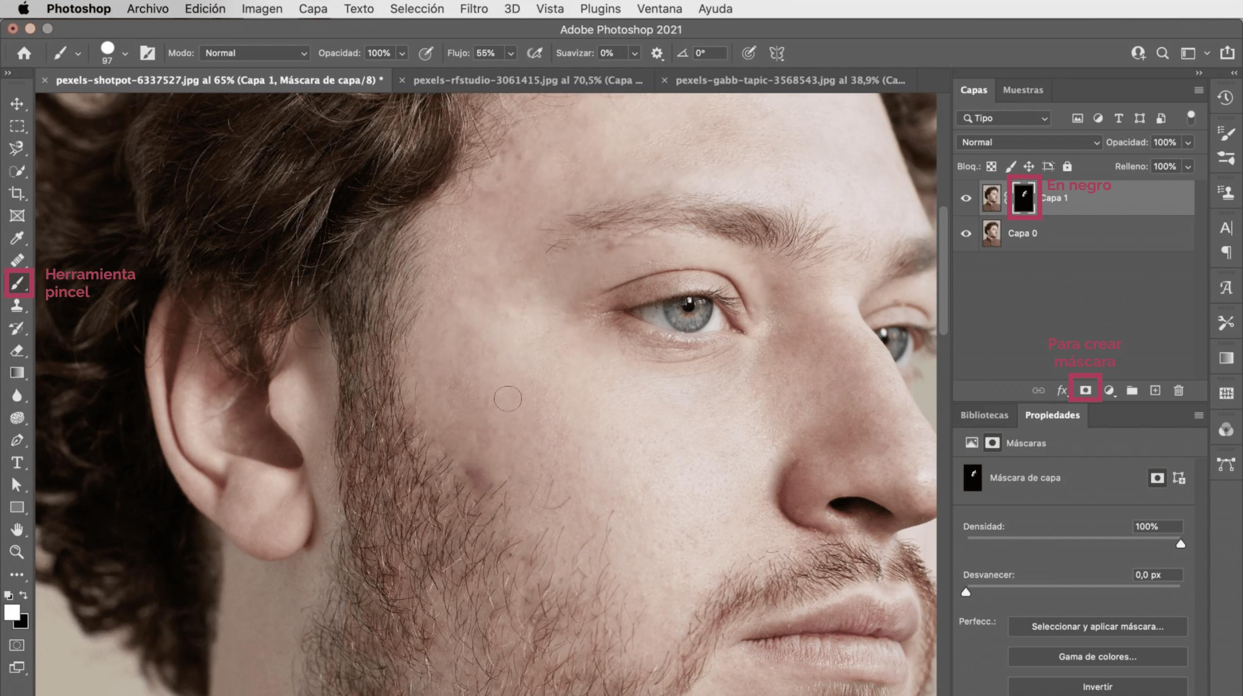 Cómo recuperar los detalles perdidos al suavizar la piel en Photoshop