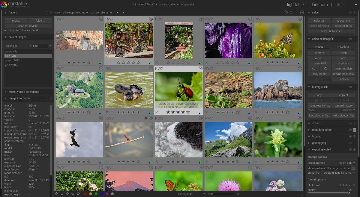 Mejor editor de fotos para PC gratis: Darktable