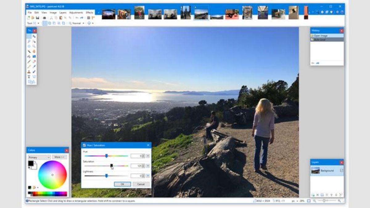 Mejor editor de fotos para PC gratis: PAINT.NET