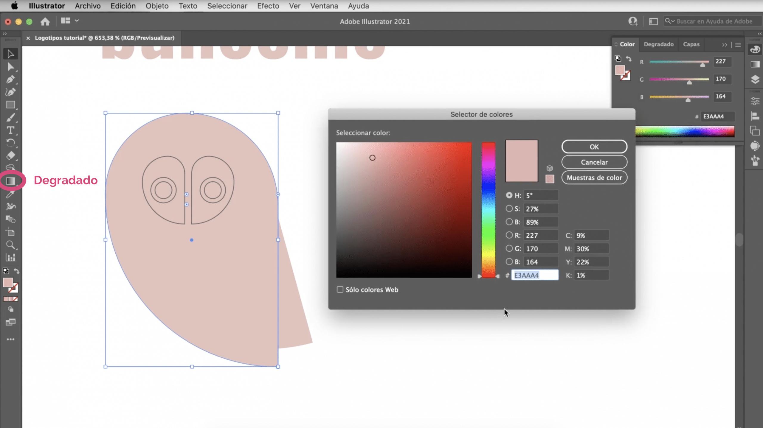 Illustratorでロゴにグラデーションを適用する