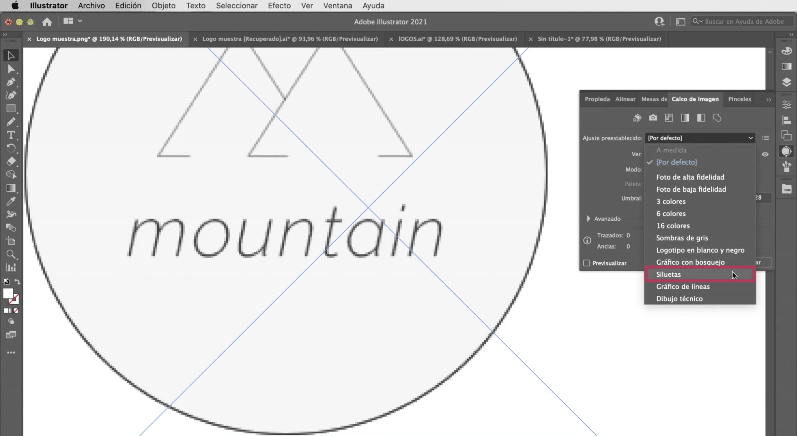 Hacer calco de imagen en Illustrator