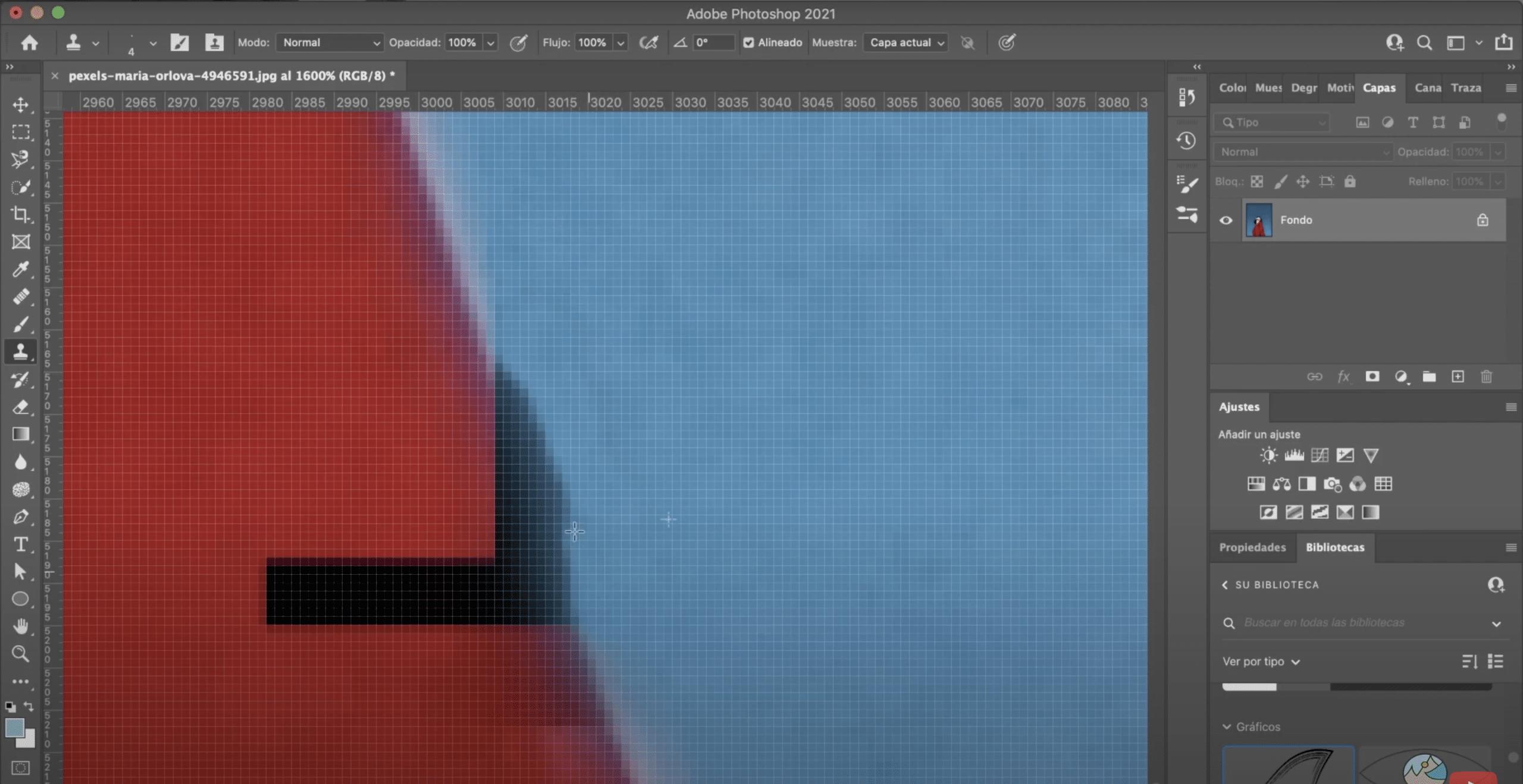 Ampliar para obtener mejores resultados en los bordes en photoshop