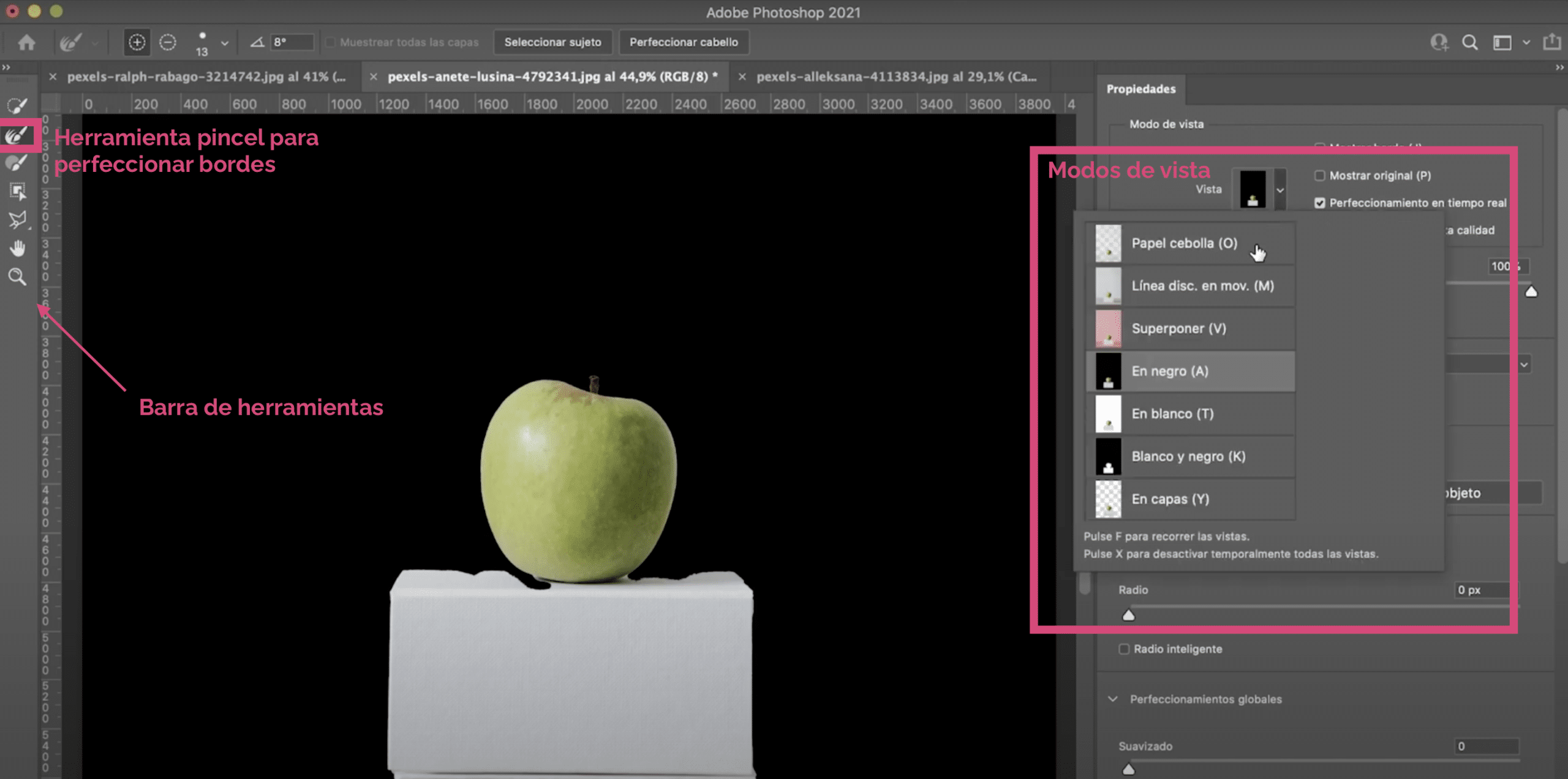 Photoshopで選択マスクを使用してエッジを調整する方法