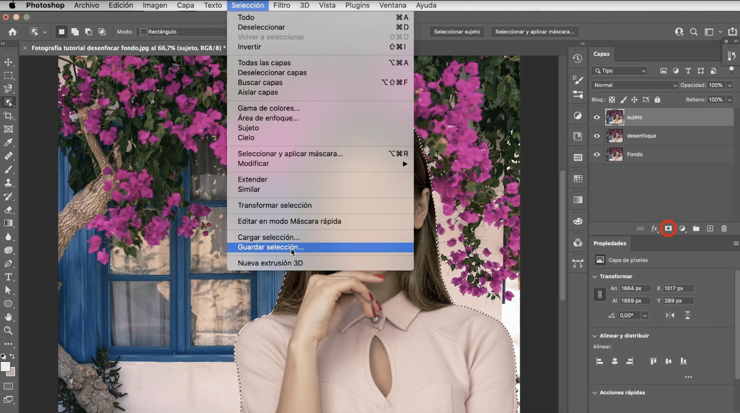 Photoshopでマスクを作成して選択範囲を保存する方法