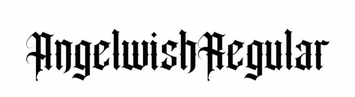 Tipografía medieval: Angel Wish