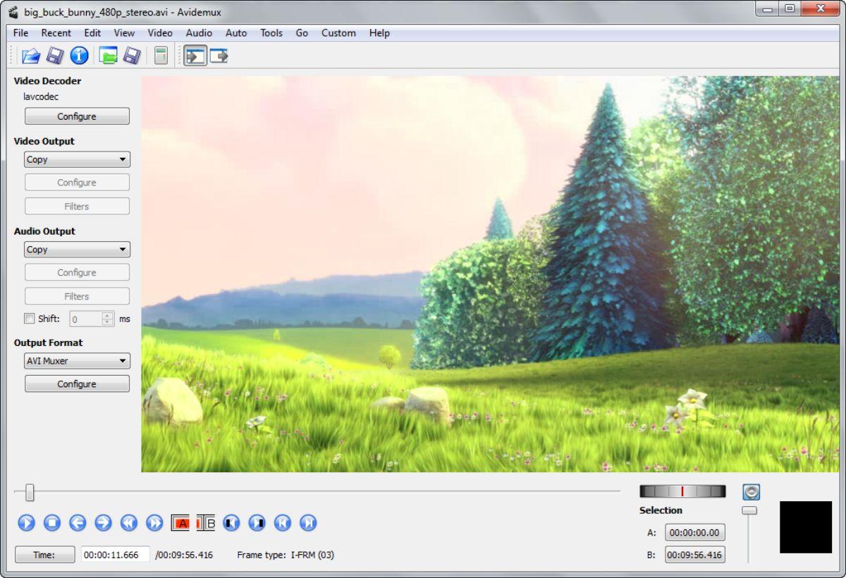 Programas para crear videos: Avidemux