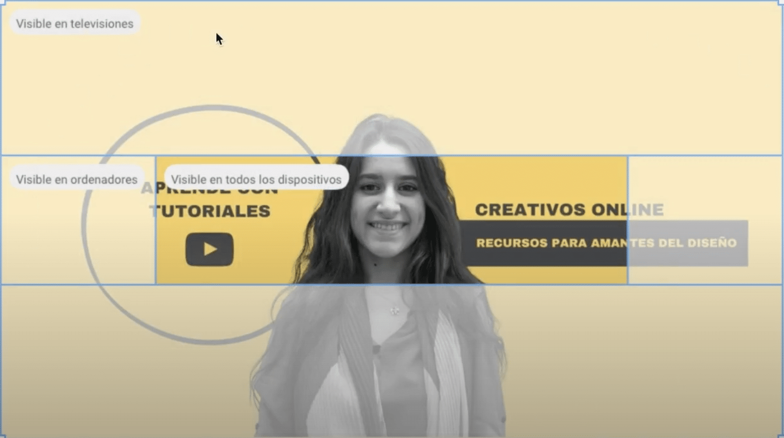 visibilidad en distintos dispositivos del banner para YouTube