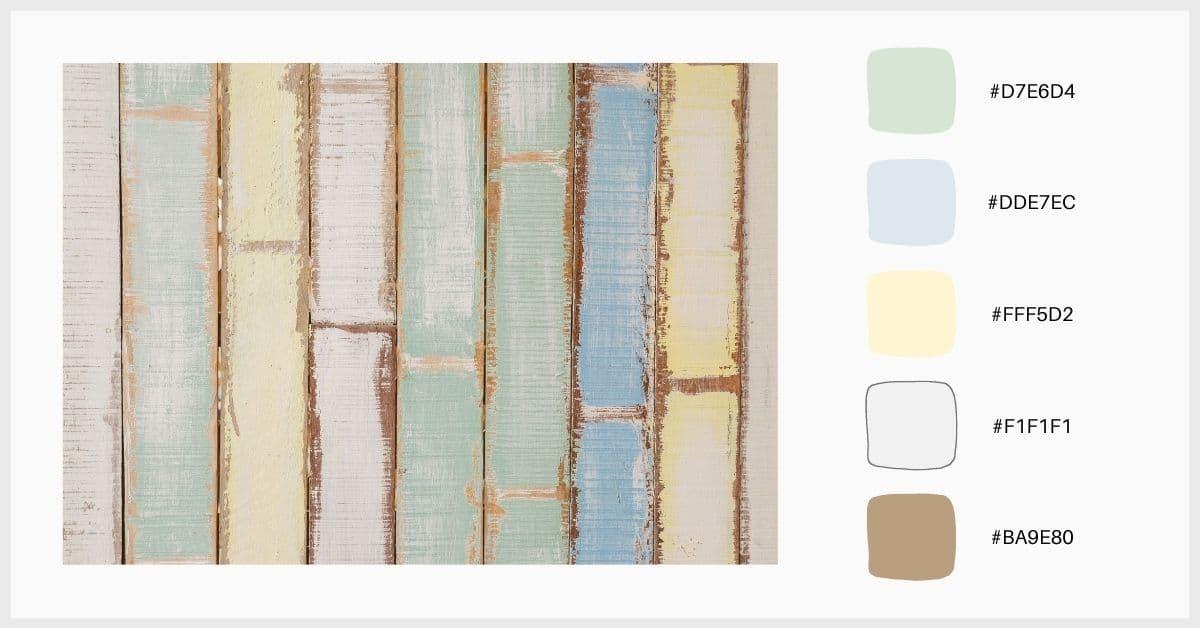 Paleta colores pastel en tonos tiza