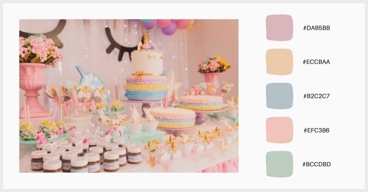paleta multicolor en tonos pastel