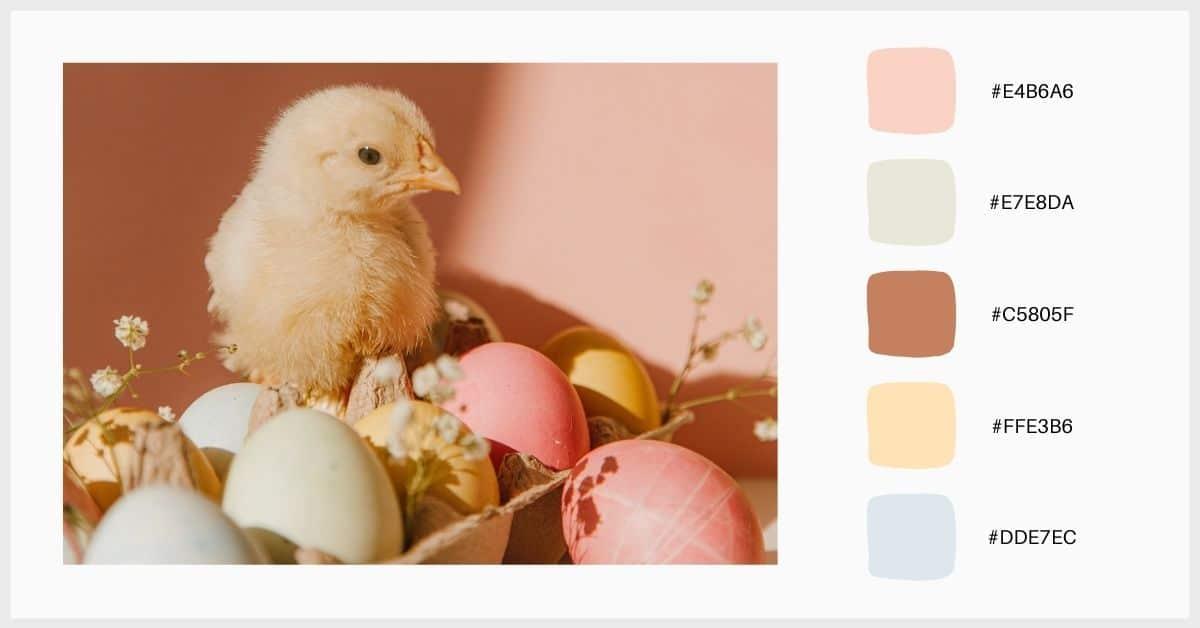 Paleta colores pastel amarillo, rosa, verde y azul claro