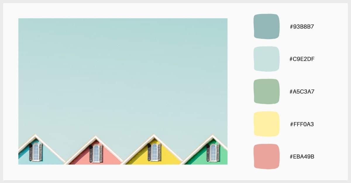 Paleta verano de colores pastel