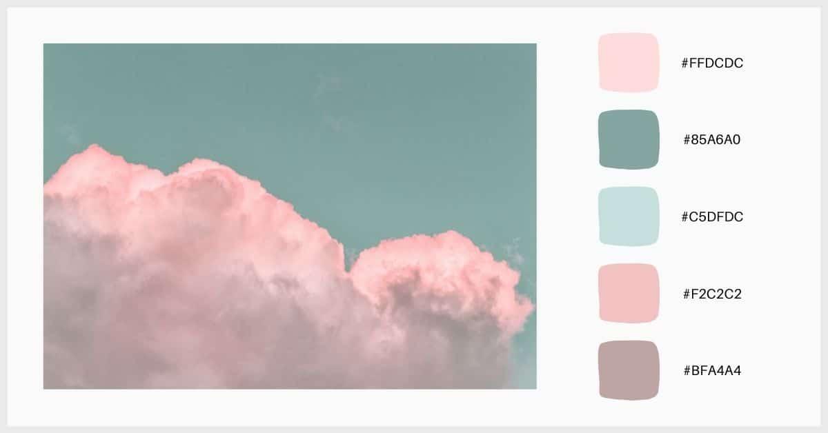 Paleta colores pastel y tonos oscuros