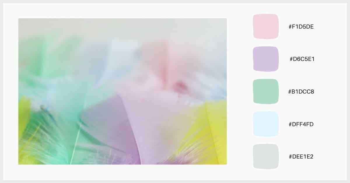 paletas tonos pastel colores vivos