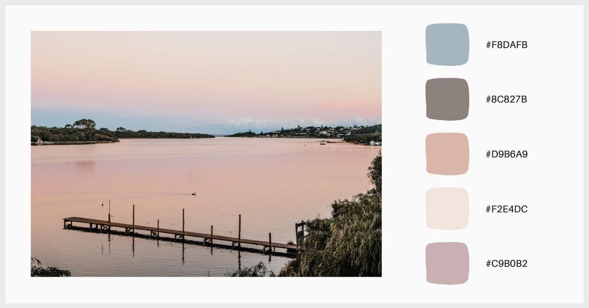 Paletas de colores pastel en tonos nude