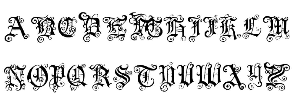 tipografía medieval