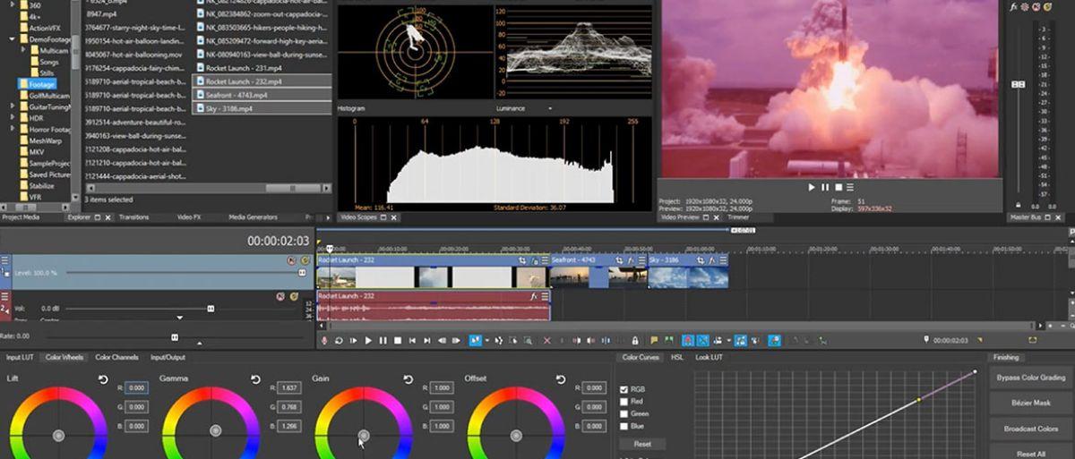 Programas para crear vídeos: Sony Vegas Pro