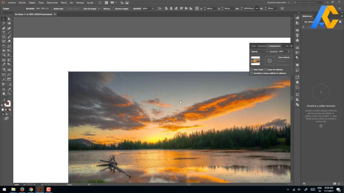 Recortar una imagen con Illustrator fácilmente