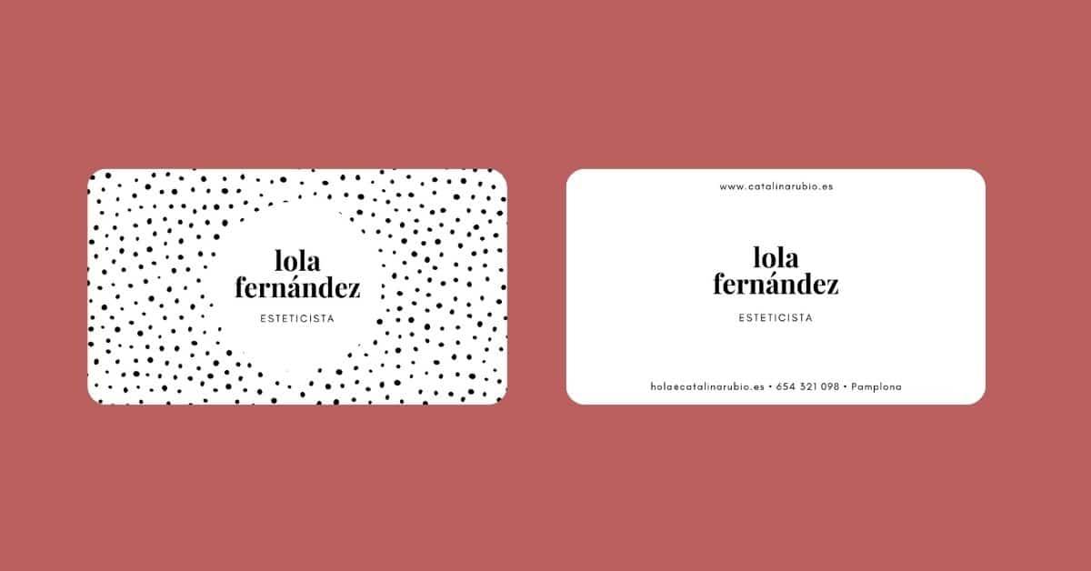 tarjetas de visita bordes redondeados