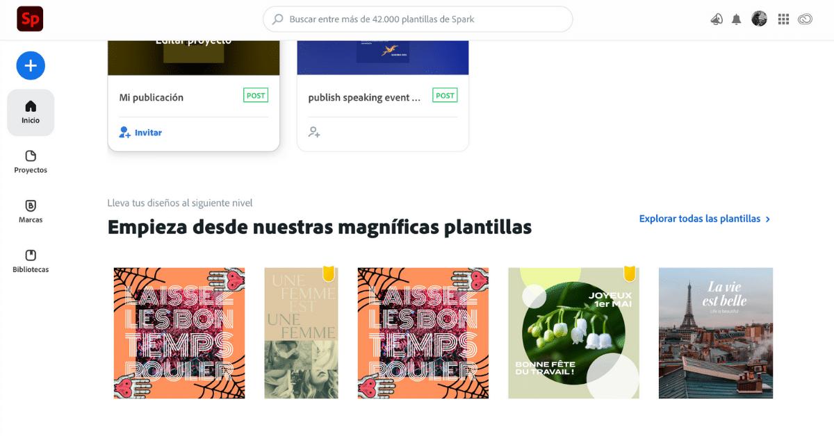 Adobe Spark herramienta online de diseño