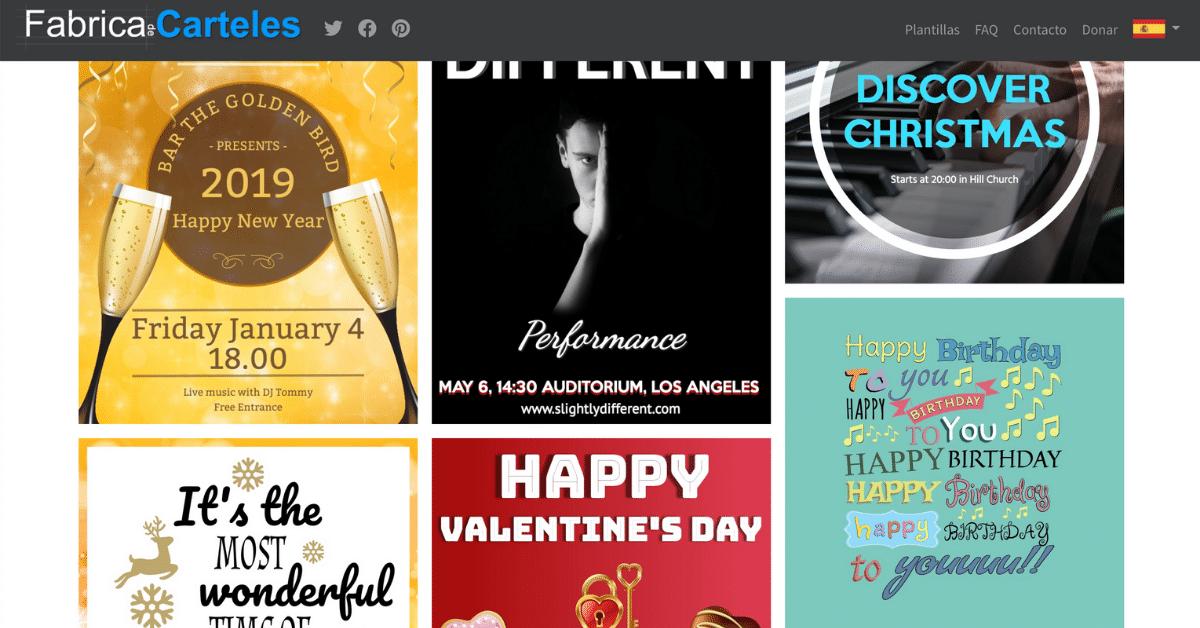 Fábrica de carteles web para diseñar carteles