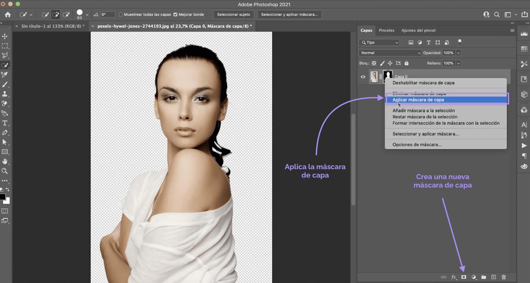 Cómo crear una nueva máscara de capa en Photoshop