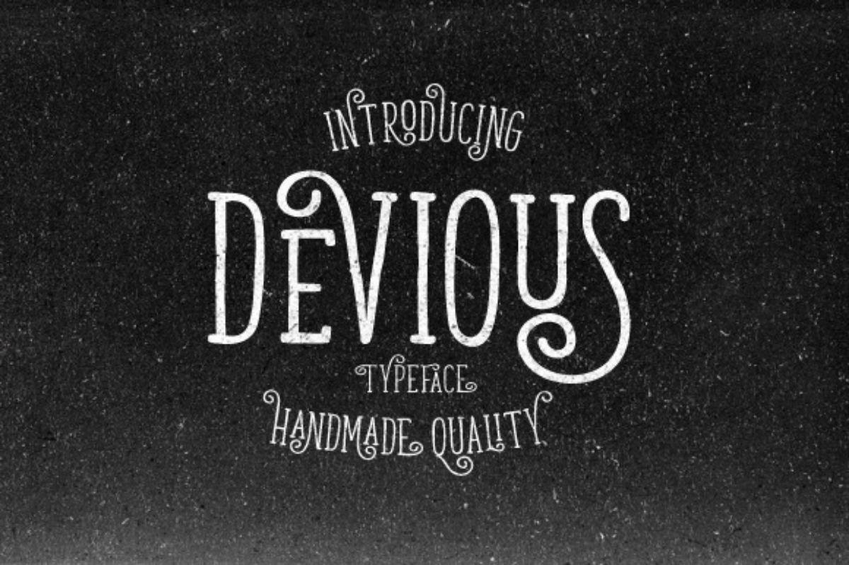 letras elegantes Devious