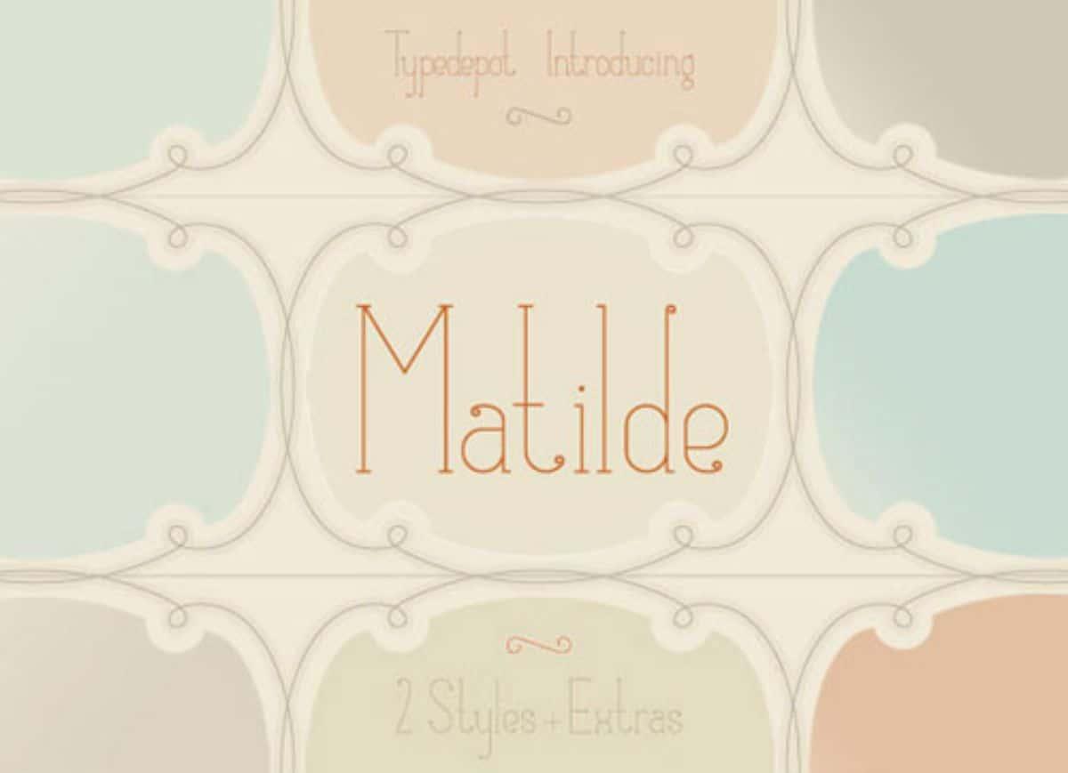 letras elegantes Matilde