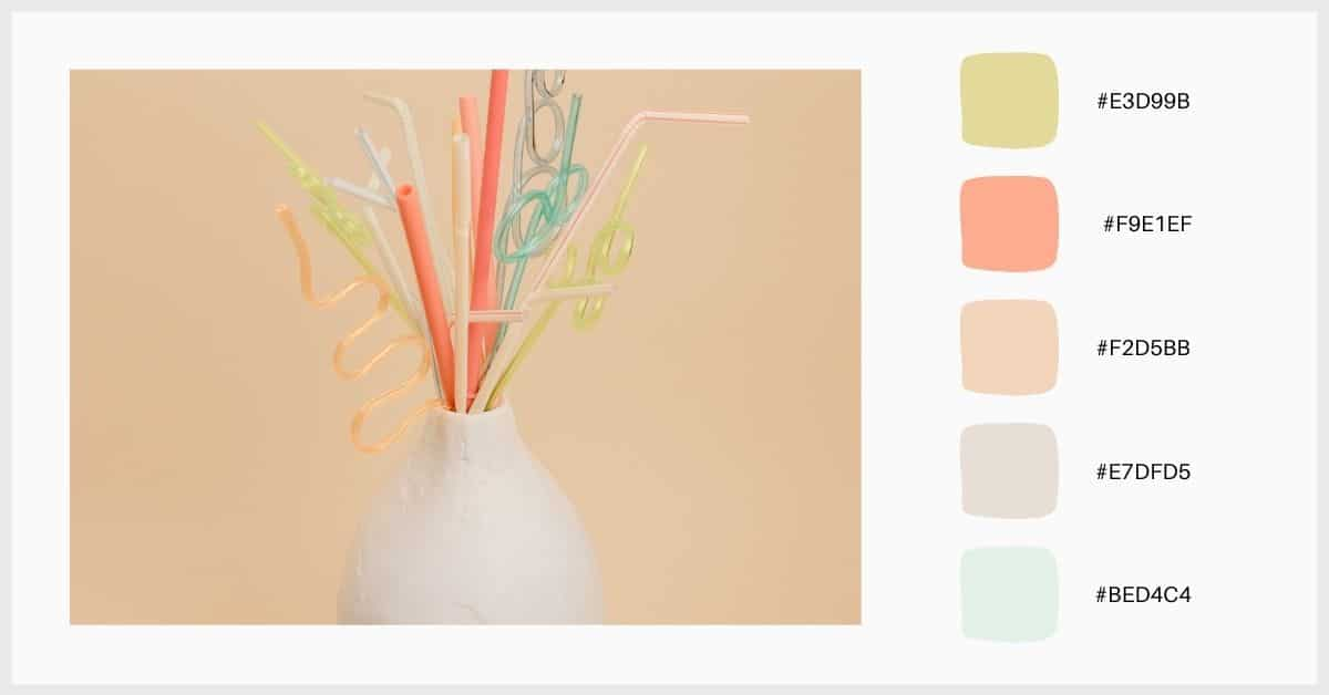 Paletas tonos pastel moderna