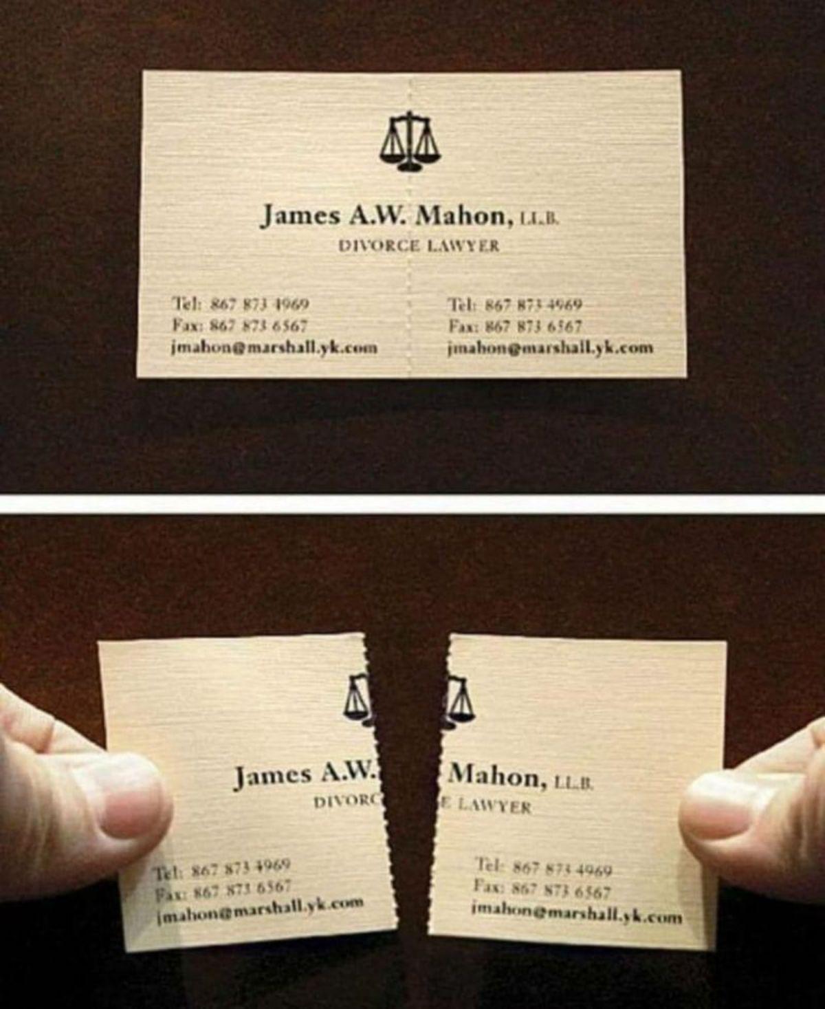 Tarjeta de divorcio divertida