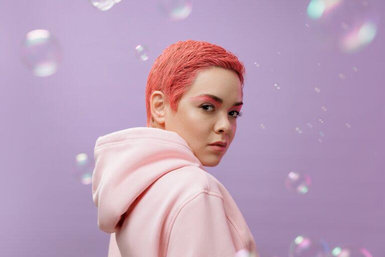 Combinación lila y rosa