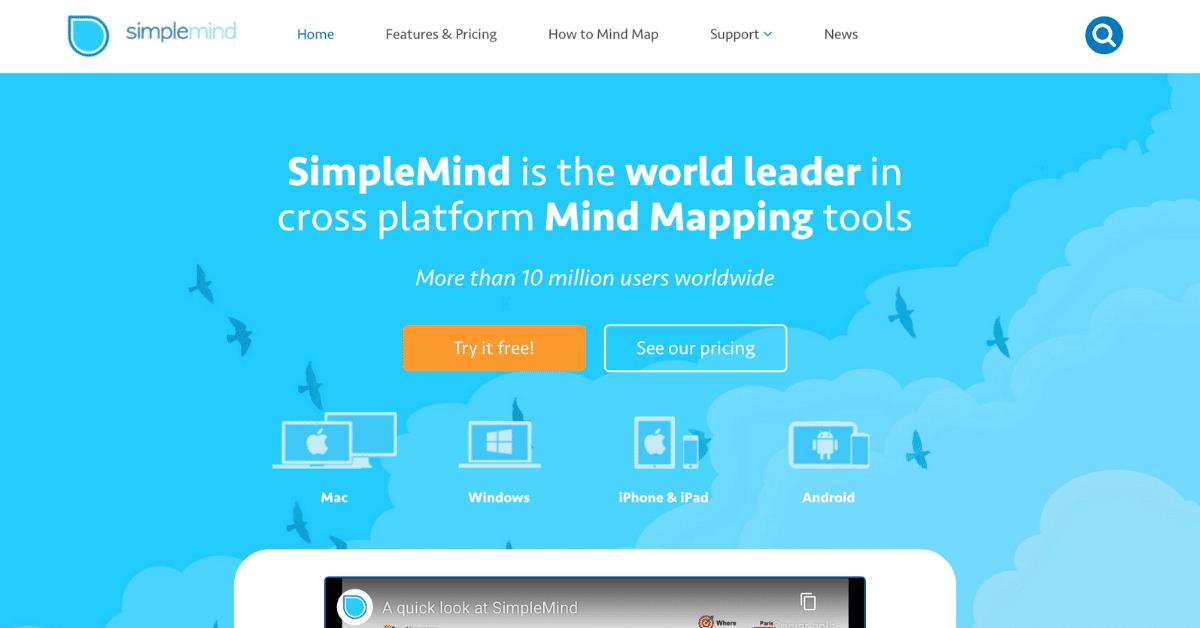 SimpleMind+ app para esquemas