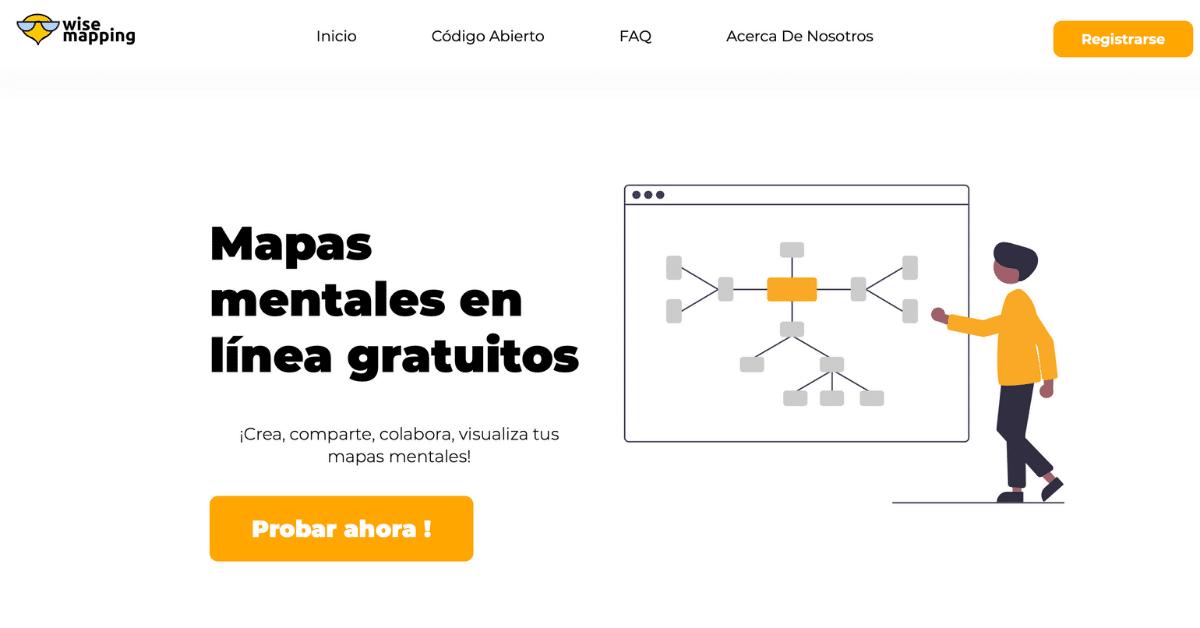 mapas conceptuales gratis y estéticos con Wise mapping