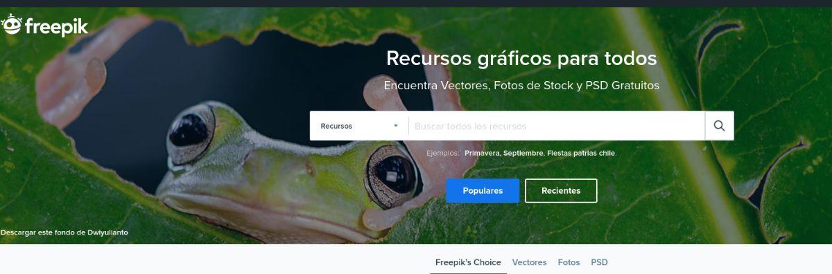 Freepik, banco de imágenes de vectores sobre todo