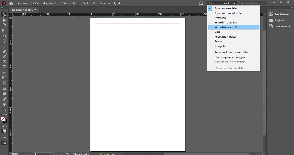 Crea proyectos interactivos con InDesign